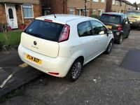 White Fiat Punto 1.2 Pop 2014 low mileage