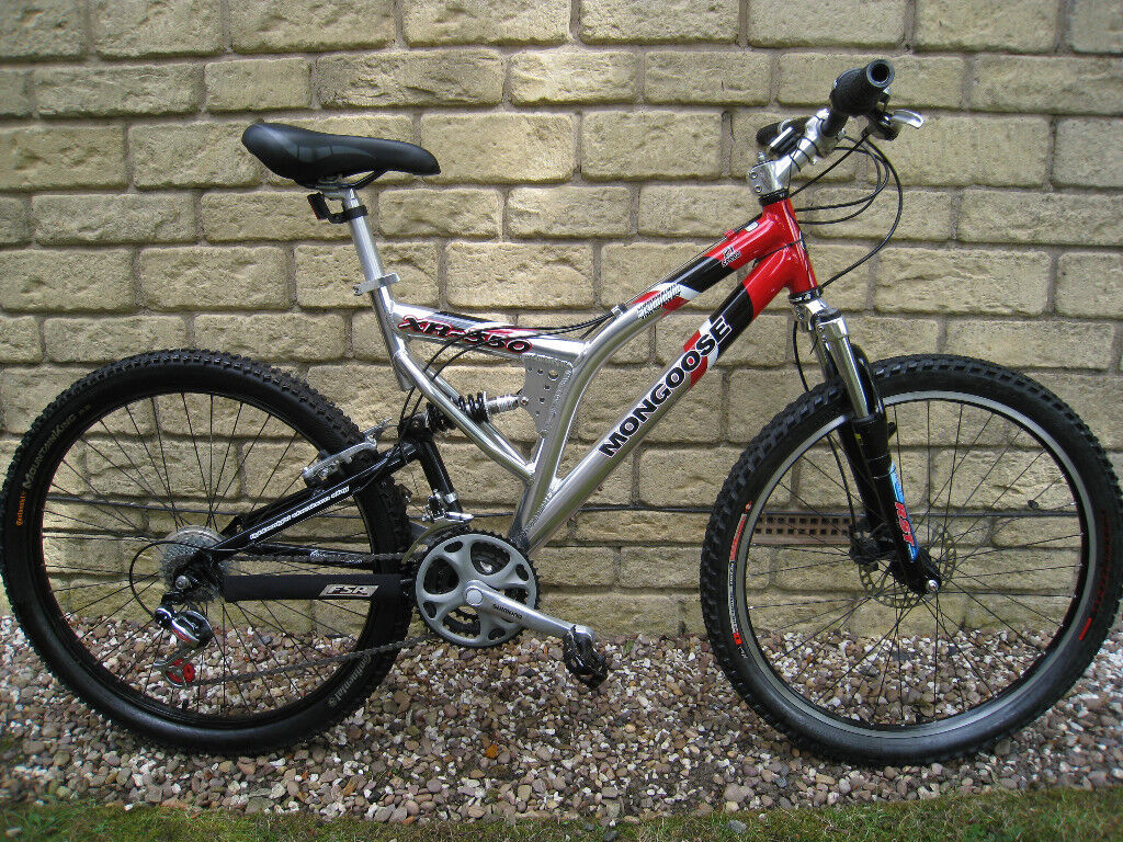 Mongoose Xr 350 Full Suspension Mountain Bike For Sale Adult 26