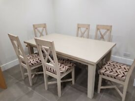 Large Dining chair with 6 chairs