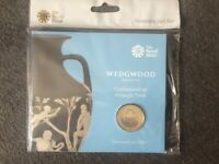 Brand New Royal Mint Wedgwood £2 Pound Coin in a Presentation Pack