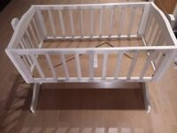Beauthiful french style rocking crhib/cot with locking option to sleep at £50