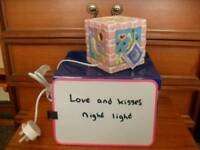 Love and kisses night light