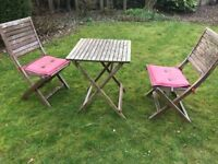Little garden table and two chairs