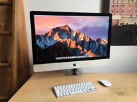 "iMac Retina 5K 27"" vesa 4.0GHz 32GB ram 1TB SSD 4GB graphics"