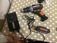 Worx 20 V hammer action drill £40 bargain