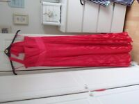 Monsoon Full Length Coral Pink Silk Dress SIZE 12. Prom / Party / Bridesmaids / Wedding / Ball