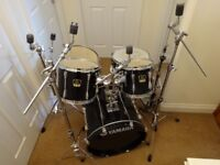 Yamaha Stage Custom Advantage Drum Kit (6000 Series, 2001-2004) Black Gloss Finish, READ DESCRIPTION