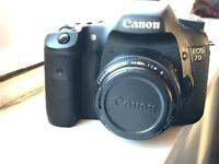 Canon Eos 7D with 50mm F1.8 canon lens