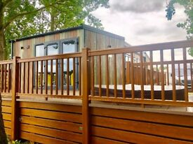 Lakeside caravan for sale at Tattershall Lakes with hot tub Lincolnshire near Skegness