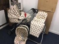 Mamas and papas gorgeous vintage afternoon tea pram buggy car seat
