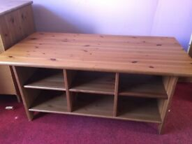 Coffee table with shelfs