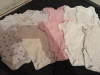 Baby girl clothes bundle 3-6 months vests dresses tshirts etc