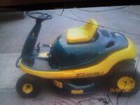 mtd yard man ride on mower