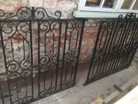 Iron gates and gate posts