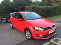 2014 VOLKSWAGEN POLO RED 16,000 MILES CAT D EXCELLENT CONDITION INSIDE AND OUT