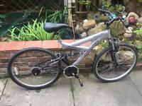 Magna full suspension mountain bike with one gear!
