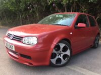 Red golf gti modified good condition