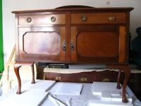 Very old pre-vintage Georgian style 2 drawers and 2 cupboard doors side cabinet, sideboard, dresser.