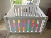 White Playpen - Extendable - A classy edition to any family home!