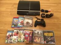 80gb PS3 Console,Complete With 10 Games & Controller £50 no offers