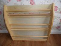 Wooden book shelves for child