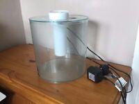 2 x Marina 360 fish tank with nano heaters