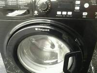 Hotpoint black washing machine. 16 months old as new