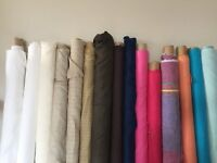 A range of colours in Irish Linen available per metre