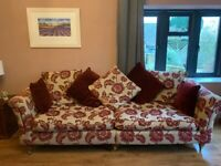 Large 4 seater scatter back sofa for sale in very good condition