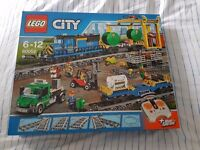 Lego city cargo train set. New & Unopened. Comes with remote control and track