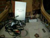 PS2 with controller an 3 games