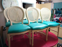 Set of 6 Vintage French Louis XVI Dining chairs