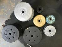 Selection of weight plates (72kg total)