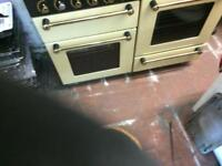 Black & cream rang master 110cm gas cooker grill & double ovens good condition with guarantee