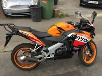 HONDA CBR 125 R REPSOL ORANGE 125CC LEARNER LEGAL MOTORBIKE SCOOTER RELIABLE EXCELLENT RUNNER