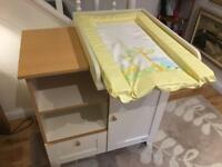 John Lewis baby changing table and unit