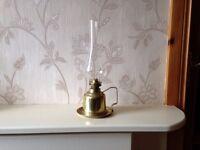 Old Brass Oil Lamp