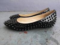 Size 4 Christian Louboutin Pigalle spiked flats