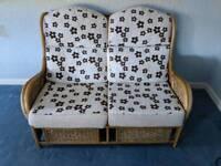 Cane 2 seater sofa