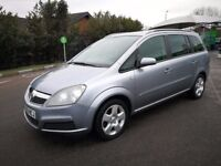 7 SEATER VAUXHALL ZAFIRA IN CLEAN CONDITION. LONG MOT. SERVICE HISTORY. 2 PREVIOUS OWNERS. 2 KEYS