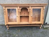 Fabulous Farmhouse Pitch Pine wall unit Vinatge country kitchen