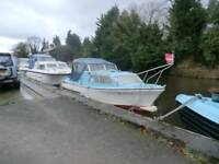 STUART STEVENS 19FT CANAL/RIVER CRUISER WITH 9.9 HP YAMAHA 4 STROKE