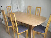 Dining Table + 6 chairs (£10 off asking price for quick sale!)