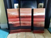 Set of 3 sunset canvas prints