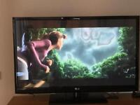 "LG 50"" inch plasma tv & remote control Freeview TV"