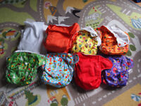 TotsBots EASYFIT nappies x10 never used! mixture of cute patterns and colours