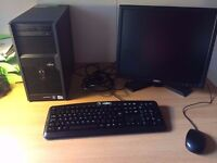 Complete PC with monitor, keyboard and mouse