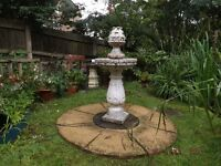 Fountain and slabs for surround