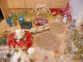 Christmas Job Lot - Decorations, Ornaments, Lights, table displays etc - Mainly NEXT items