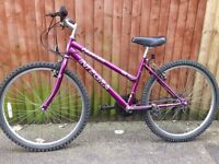 "16"" frame 24"" wheel girls bike 24 shimano gears"